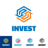 Invest - business logo concept illustration — Stock Vector