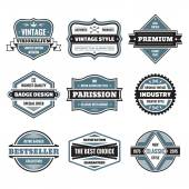 Vector graphic badges collection. Original vintage badges. Creative logo vector set. Vector retro labels collection. Design elements. — Stockvector