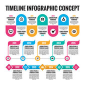 Infographic vector concept in flat design style - timeline template for presentation, booklet, web and other creative design projects. Three schemes. Design elements. — Stock Vector