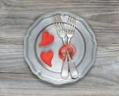 Scarlet hearts — Stock Photo