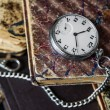 Old books and  pocket watch — Stock Photo #72815183