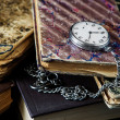 Old books and  pocket watch — Stock Photo #72815185