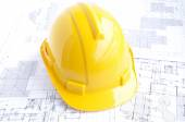 Hard hat for engineers — Stock Photo