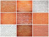 Set of Brick walls — Stock Photo