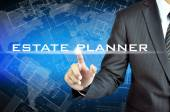 Hand pointing to ESTATE PLANNER sign — Stock Photo