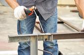 Arc welding (or stick welding) — Стоковое фото
