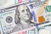 United States dollars (USD) bills — Stock Photo
