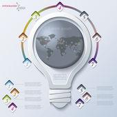абстрактная иллюстрация инфографика с лампочки могут быть использованы fo — Cтоковый вектор