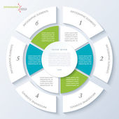 Modern template for business project or presentation with circle — Stok Vektör
