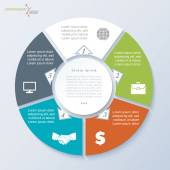 Vector circle template infographic for business project or prese — Cтоковый вектор