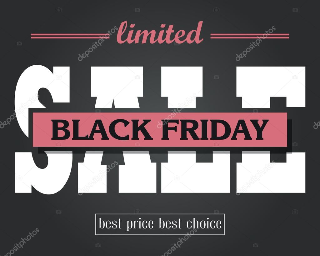 Price for a poster design - Black Friday Sale Poster Design Typographical Vector Template Ba Stock Illustration