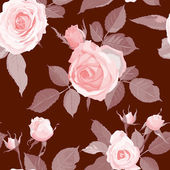 Decorative Floral Seamless Pattern. — Stock Vector