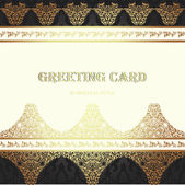 Card in traditional oriental style. — Vettoriale Stock