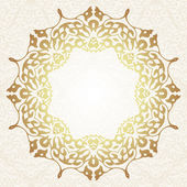 Floral frame background in arabic motif — Stock Vector