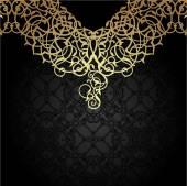 Luxus gold Verzierung. mit orientalischen Motiven. — Stockvektor