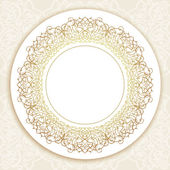 Vector ornate round border in Eastern style. — Stock Vector