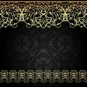Vector ornate seamless border in Eastern style. — Stock Vector