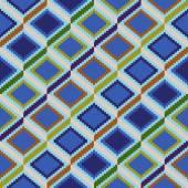 菱形の要素とのシームレスなパターン — ストックベクタ