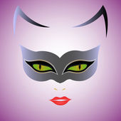 Cat Woman mask — Stock Vector