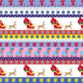 Christmas seamless pattern with Santa — Stock Vector