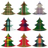 Set of Christmas Trees using the Celtic ornament — Stock Vector