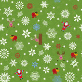 Seamless pattern for Christmas motifs — Stock Vector