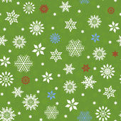 Seamless pattern with many snowflakes — Stock Vector