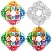 Abstract circular shapes — Stock Vector