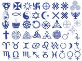 Different symbols created by mankind — Stock Vector