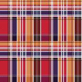 Tartan seamless texture mainly in red and blue hues  — Stok Vektör