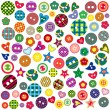 Many colored ornamental buttons — Stock Vector #78167322