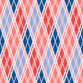 Rhombic seamless pattern in red an blue trendy hues — Stock Vector