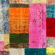 Colorful vintage patchwork rug — Stock Photo #55414373