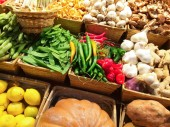 Variety of vegetables at the market — Stock Photo