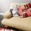 Sofa with fancy cushions — Stock Photo #56084177