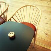 Table and chair in a restaurant — Stock Photo
