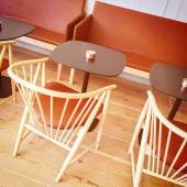 Detail of a stylish cafe interior — Stock Photo