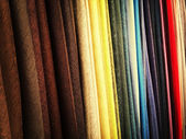 Colorful fabrics in a store — Stock Photo