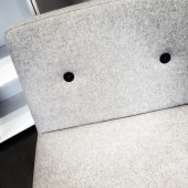 Close-up of modern white armchair — Stock Photo