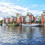 Modern residential neighborhood in Stockholm — ストック写真