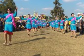 Mahasarakham, таиланд - 20 декабря: парад в традиции таиланда на декабре 20,2013 в mahasarakham, таиланд — Стоковое фото