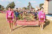 MAHASARAKHAM,THAILAND - DECEMBER 20 : Parade in tradition of Thailand on December 20,2013 in Mahasarakham,Thailand — Foto Stock