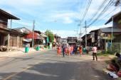 MAHASARAKHAM,THAILAND - OCTOBER 28 : Parade in tradition of Thailand on October 20,2014 in Mahasarakham,Thailand — Photo