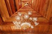 Forma bella luce di soffitto — Foto Stock
