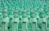 Statue of Guanyin green — Stock Photo