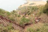 Stairs volcanic island of Jeju South Korea — Stock Photo