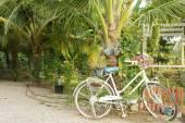 Çiçeklerle süslenmiş Bisiklet — Stok fotoğraf