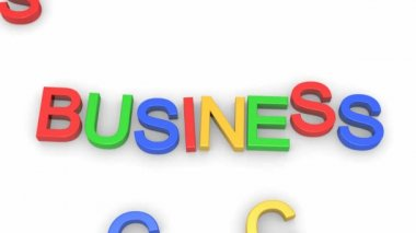 Animated words Business and Success — Stock Video