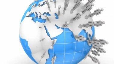 Crecimiento de la red social — Vídeo de Stock