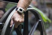 Wheelchair closeup — Stock Photo